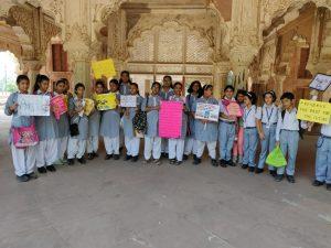 Heritage club pix, visit to Roshanara tomb