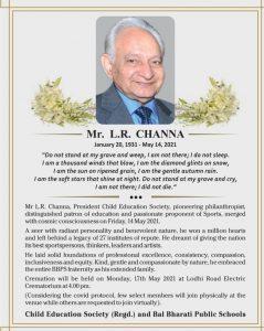 channa sir obituary