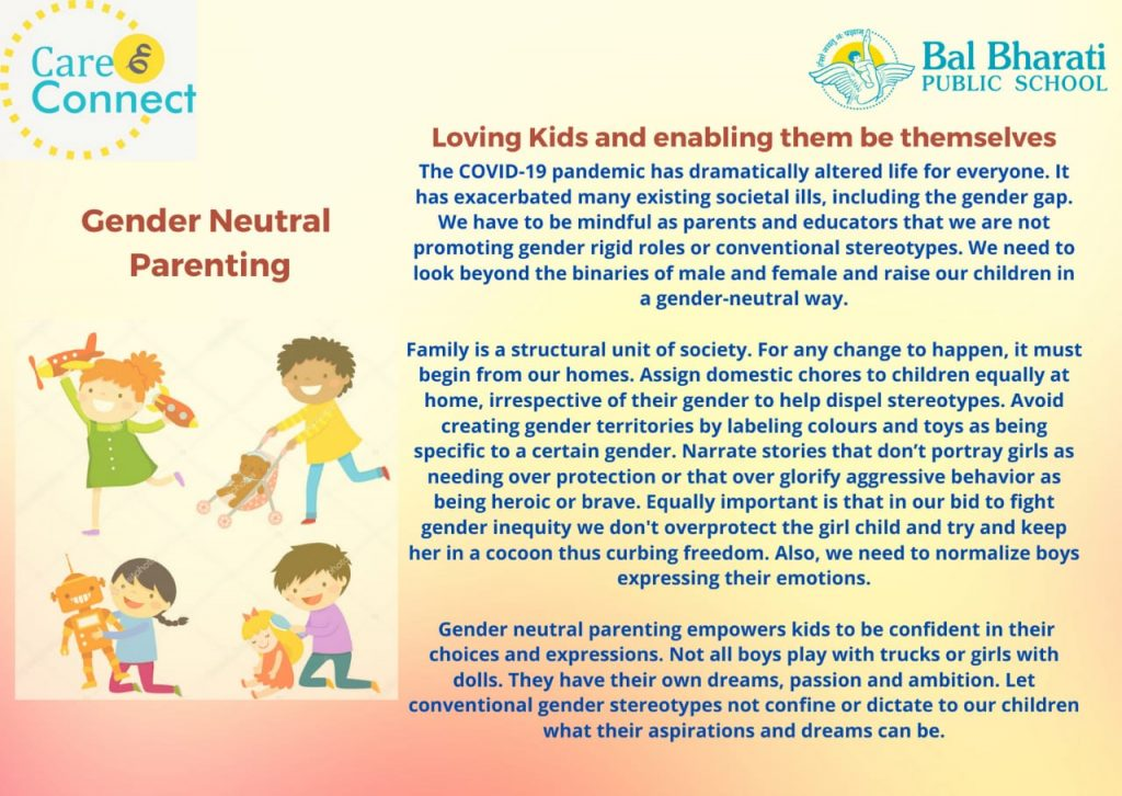 Care & Connect Gender Neutral Parenting - June 28, 2021