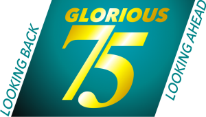 75 years logo