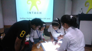 A creative workshop for preservation of old documents and painting s etc was conducted by INTACH .2
